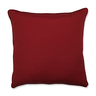 Pillow Perfect Outdoor/Indoor Pompeii Red 25-Inch Floor Pillow - Includes one (1) outdoor floor pillow, resists weather and fading in sunlight; suitable for indoor and outdoor use Plush Fill - 100-percent polyester fiber filling Edges of outdoor pillows are trimmed with matching fabric and cord to sit perfectly on your outdoor patio furniture - patio, outdoor-throw-pillows, outdoor-decor - 41Jqx%2BC1SGL. SS400  -
