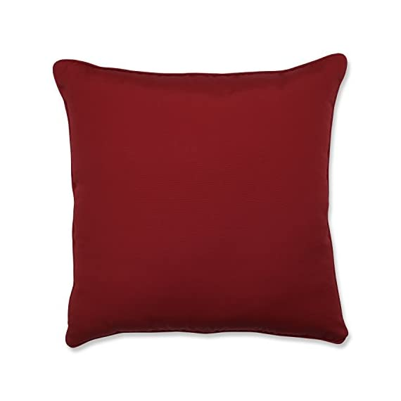 """Pillow Perfect Outdoor/Indoor Pompeii Floor Pillow, 25"""" x 25"""", Red - Includes one (1) outdoor floor pillow, resists weather and fading in sunlight; suitable for indoor and outdoor use Plush Fill - 100-percent polyester fiber filling Edges of outdoor pillows are trimmed with matching fabric and cord to sit perfectly on your outdoor patio furniture - patio, outdoor-throw-pillows, outdoor-decor - 41Jqx%2BC1SGL. SS570  -"""