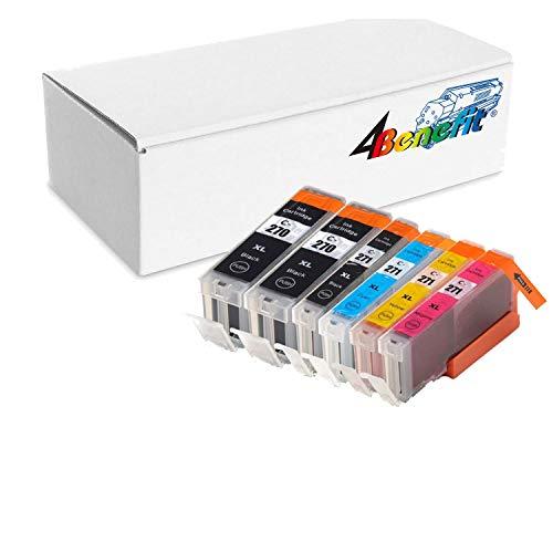 PGI270XL (PGI-270 XL, CLI-271 XL) CLI271XL Black and Color COMBO High Yield Ink Tank Replacement Cartridges for Pixma MG6820 MG6821 MG6822 MG5720 MG5722 MG7720 (6 Packs) ()