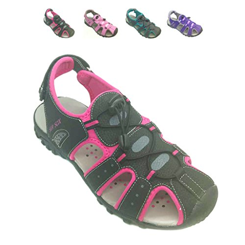 Ladies Womens Waterproof Hiking Sport Closed Toe Athletic Sandals