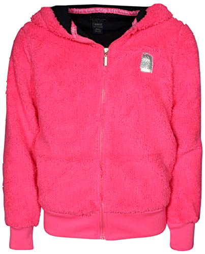 - U.S. Polo Assn. Girl\'s Zip-Up Fur Fleece Hoodie Sweatshirt, Neon Pink, Size 14/16'