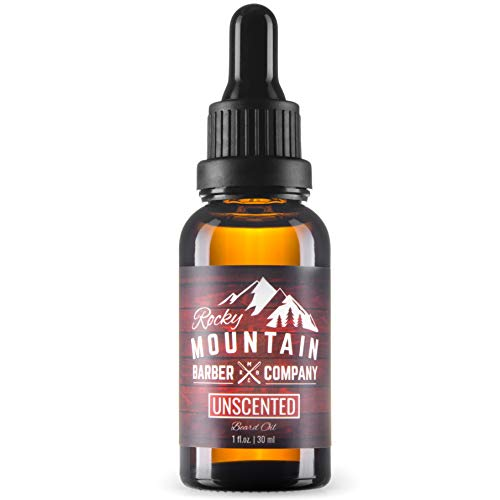 Beard Oil - Fragrance Free - Unscented - 100% Natural - Premium, Cold-Pressed 9 Oil Blend with Nutrient Rich Jojoba, Coconut Oil
