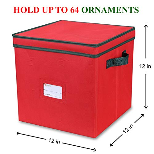 Details about  /Primode Christmas Ornament Storage Box with 4 Trays Holds Up to 64 Ornaments