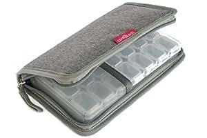 LeanTravel 7 Day Travel Premium Pill Case Organizer & Passport Wallet with 5 Pockets
