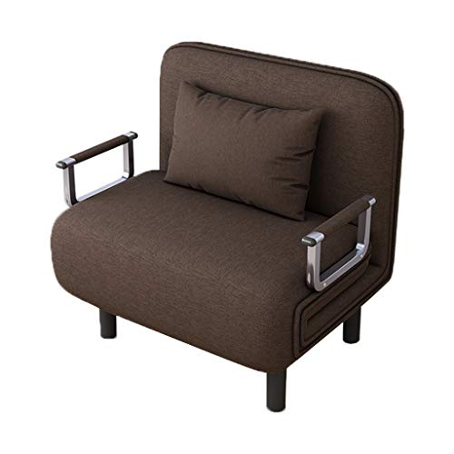 Quelife Convertible Sofa Bed Folding Arm Chair Sleeper,Single Sleeper Convertible Chair Folding Sleeper-Coffee