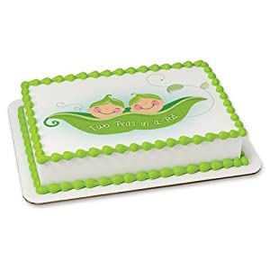 Edible Cake Images Kosher : Amazon.com: Two Peas in a Pod Edible Cake Topper #19908 ...