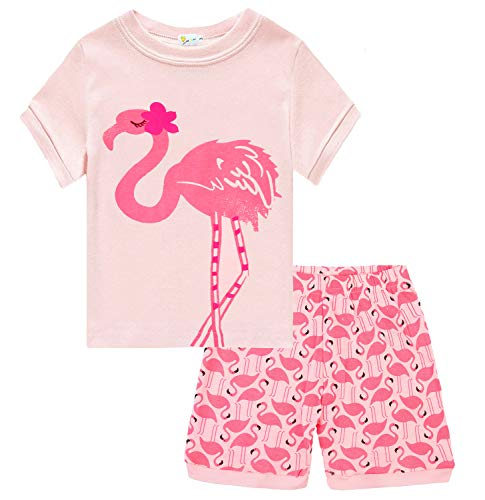 Girls Flamingo Pajamas Sets Toddler Short Pink Leggings Outfits 2 Piece for Kids 2 3 T