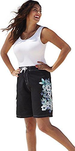 Swimsuitsforall Women's Plus Size Gardenia Long 26-30 Board Short 28 Blue