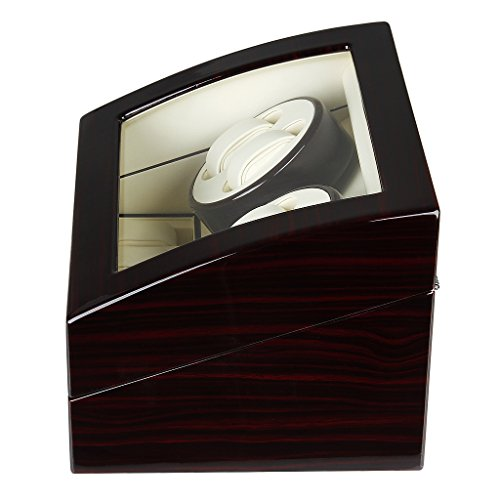 Excelvan Mens Luxury Wood Watch Winder Leather Storage Display Box Automatic Rotation Jewelry Case Organizer by Excelvan (Image #5)