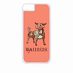 Zodiac Taurus-April 21 to May 20-The Bull- Case for the Apple Iphone 6-Hard White Plastic Outer Shell