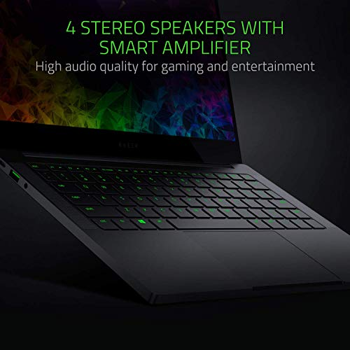 Razer Blade Stealth 13.3in Thin and Light Laptop - Slim Bezel 4K Touchscreen - NVIDIA GeForce MX150 - Intel Core i7-8565U - 16GB RAM - 512GB SSD - Windows 10 - CNC Aluminum (Renewed)