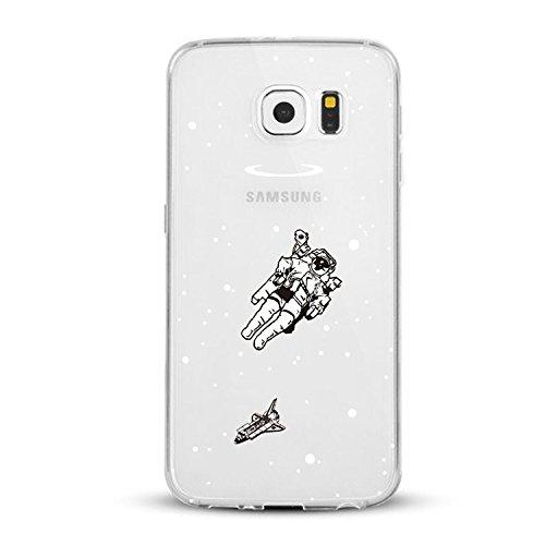 Vanki® Funda Galaxy S6 Edge,Carcasa Cubierta TPU Silicona Goma Suave Case Protection y Premium Clarity Cover Ultra Fino Anti-Arañazos para Samsung Galaxy S6 Edge-Las plantas verdes 10