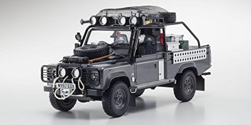 Land Rover Defender Tomb Raider Edition Corris Grey 1/18 by Kyosho KSR08902TR