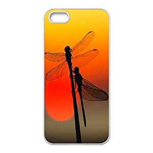 Cool Painting Dragonfly Classic Personalized Phone Case for Iphone 5,5S,custom cover case case630266
