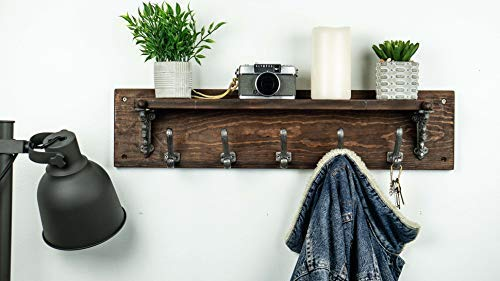 Generous Wall Mounted Coat Rack Entryway Shelf Wooden Organizer with Hooks Storage Cabinets for Hallway Living Room Bedroom Bathroom