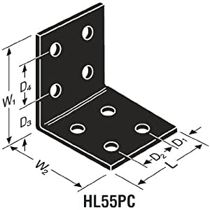 """Simpson Strong Tie HL55PC 5-3/4"""" x 5-3/4"""" x 5"""" Ornamental Heavy Angle Textured Black"""