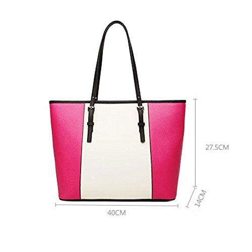 Borsa Di Bag Tote Semplice Tracolla Grande A Semplice Colore Coreana Pelle Borsa Pink Borsa In A Borsa Tracolla Moda wO7xn6YaqY