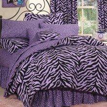 Purple Zebra/Leopard Print Window Treatments-DPS ()