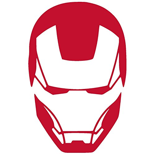 Vinyl Face - ttdecals IRON MAN FACE Vinyl Decal Stickers (2.6
