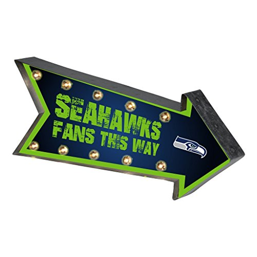 Seattle Seahawks NFL Team Logo Light Up Marquee Wall ()