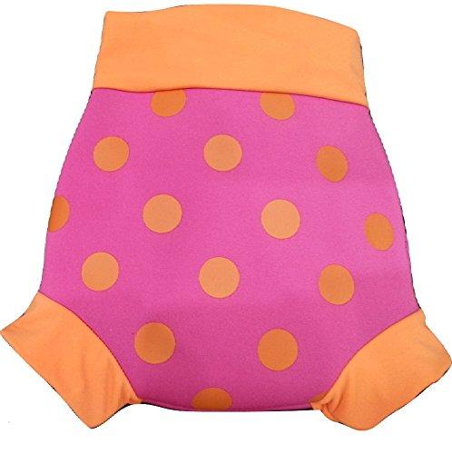 IndigoKids Baby Toddler Girl Neoprene Reusable Swimming Nappy Shorts Fushia Pink FUSHIA PINK)