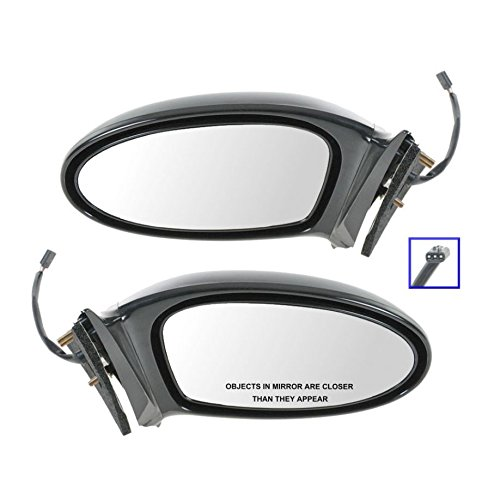 Power Side View Mirrors Left & Right Pair Set for 02-05 Pontiac Grand Am