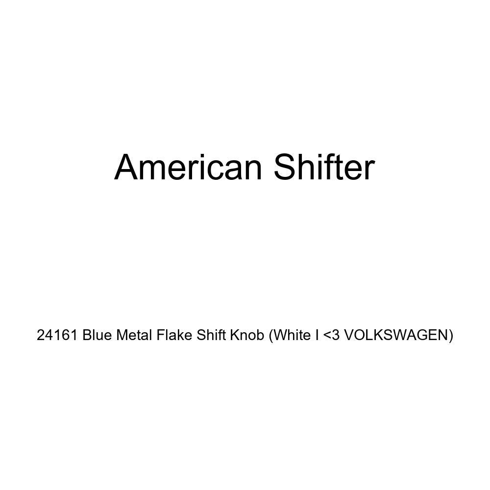 White I 3 Volkswagen American Shifter 24161 Blue Metal Flake Shift Knob