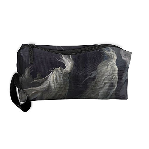 Kla Ju Portable Pencil Bag Purse Pouch Ghost Design Stationery Storage Organizer Cosmetic -