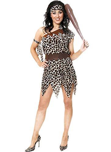 Rimi Hanger Womens Fancy Cavewoman Adult Costume Ladies Fancy Hen Night Party Wear Outfit One Size -