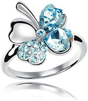 Beautiful Elegant Ring Fashion Jewelry Made with 100% Genuine Swarovski Crystals Great Gift