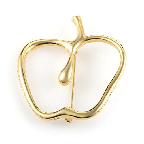 (Tiffany & Co Tiffany & Co. Women's 18K Yellow Gold Openwork Apple Brooch AK1B3591)