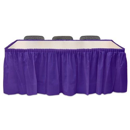 Purple Plastic Table Skirt 29