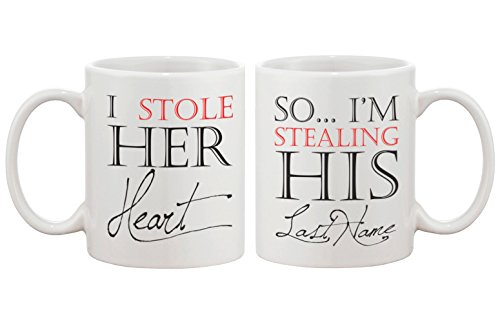 Stealing Last Name - Funny Couple Mugs