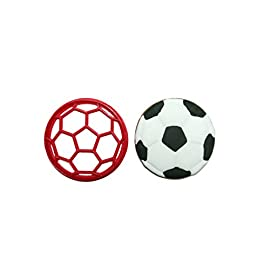 Soccer Ball Cookie Cutter 39 Approx. 3 inches wide by 3 inches tall HANDWASH ONLY Plastic-PLA