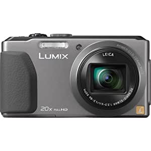 Panasonic Lumix DMC-ZS30 Digital Camera (Silver) + 4GB Memory Card