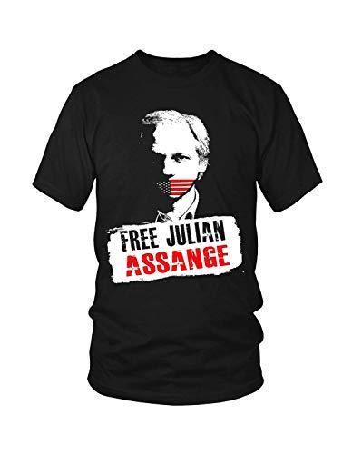 So Many Pets Free Julian Assange Shirt Black