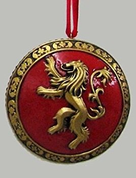 Game of Thrones House Lanister Resin Disc Ornament