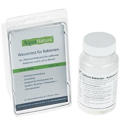 Extrem Aquanatura Wassertest für Bakterien und E.coli in Wasser (1 Test SG67