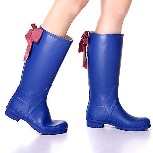 Waterproof Boots Rain High Blue Women Insun Women's nqPT8UX