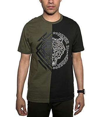 Sean John Men's Split Tiger Graphic T-Shirt