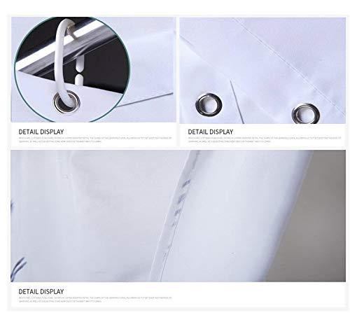 Cortina De Ducha Accesorios De Decoraci/ón del Hogar 3D Moho Tejido De Poli/éster Lavable JZZCIDGa Oso Cortina De Ba/ño Impermeable con Gancho 180X200Cm