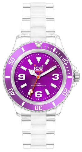 (Ice-Watch Unisex CL.PE.U.P.09 Classic Collection Purple Dial Clear Plastic Watch)