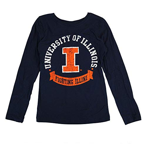 Outerstuff Illinois Fighting Illini NCAA Youth Navy Blue Blue Ribbon Long Sleeve T-Shirt