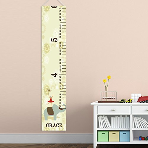 Personalized Circus Princess Girls Growth Chart - Personalized Height Charts for Girls ()