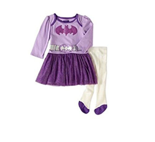 Batgirl Infant Baby Girl Tulle Dress and Tights Outfit Set (3-6 Months) -