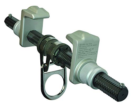 FallTech 7533 Steel, Trailing Beam Clamp Steel - Dual Adjustment for Centering on I-Beam, Aluminum Hex Bar and Jaws, 3