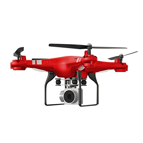 Price comparison product image Gbell Drone with Camera for Kids Adults - Wide Angle Lens HD Camera RC Quadcopter, WiFi FPV Live Helicopter Hover Aerial Vehicle for Beginnners, Birthday New Year Gifts, Color White, Black, Red (Red)