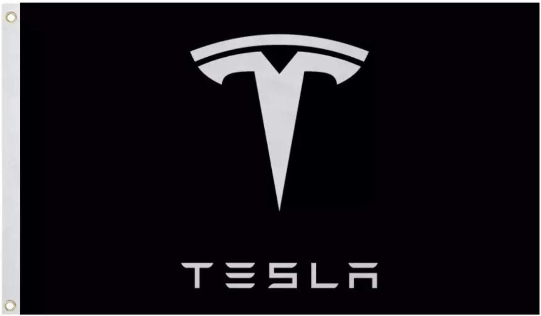 Amazon Com Black Tesla Motors Logo 3x5 Flag Banner Accessory Model 3 Model X Model S Wall Art
