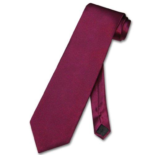Antonio Ricci NeckTie Solid BURGUNDY Color Men's Neck Tie