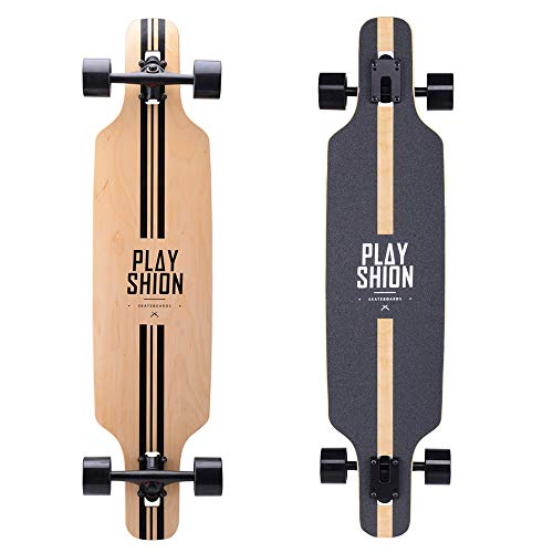 Playshion 39 Inch Drop Through Freestyle Longboard Skateboard Cruiser Line